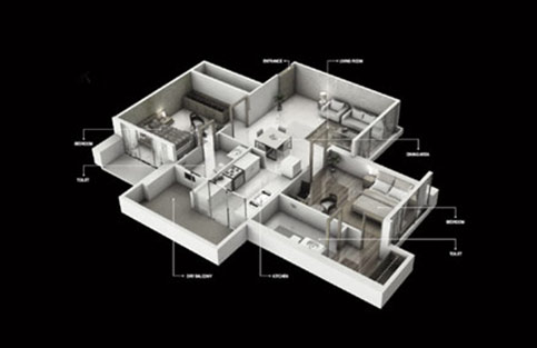 TYPICAL ISOMETRIC 2BHK TYPE1