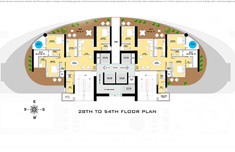 28TH TO 54TH FLOOR PLAN